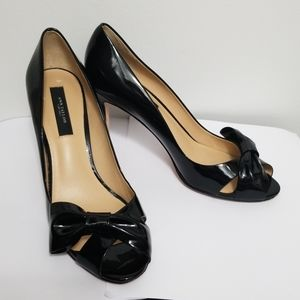 Ann Taylor Bow Peep Toe Stilettos Size 7-1…